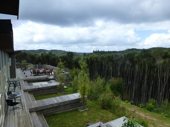 Longhouse Bed and Breakfast:                   View across the valley behind the Longhouse