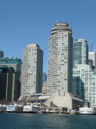 The Westin Harbour Castle:                   Hotel from the ferry