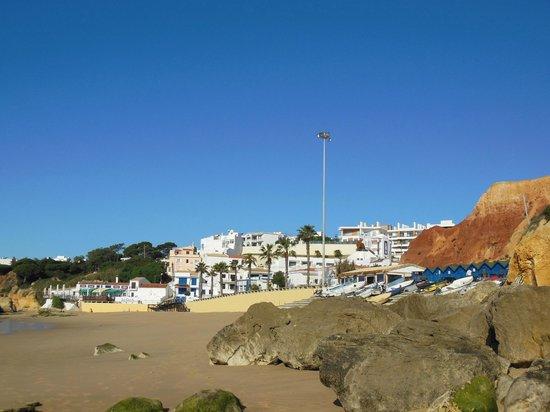 Apartamentos do Parque:                   View of Olhos from the beach