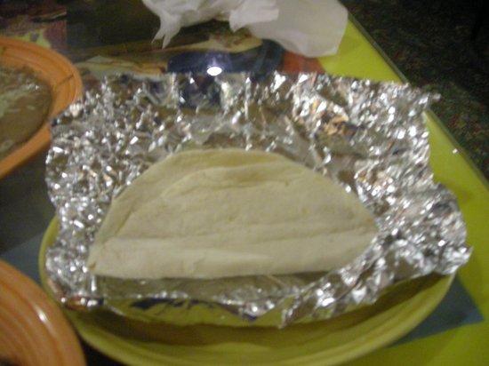 La Carreta Restaurant:                                     soft flour taco