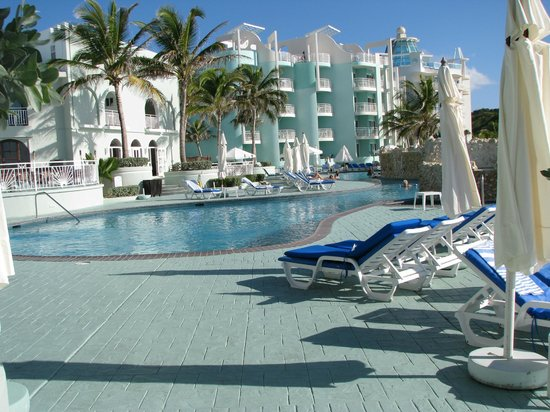 Oyster Bay Beach Resort:                                     Pool deck