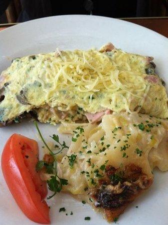 Little Next Door :                   ham & cheese omelette
