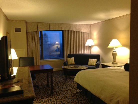 The Franklin Hotel at Independence Park:                   Room with very nice view of park - Would be even nicer when sunny!