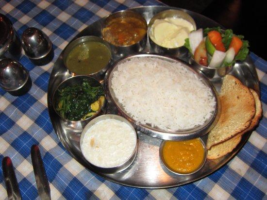 Pilgrims 24 Restaurant & Bar :                   Indian Thali Set