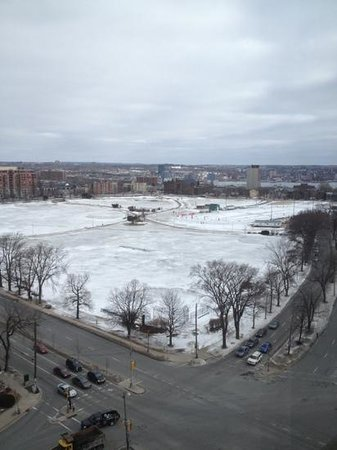 Atlantica Hotel Halifax:                   view toward the from of the hotel in winter
