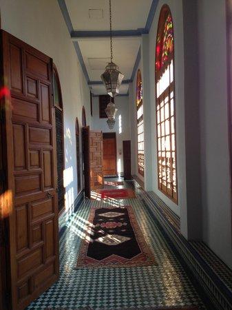 Palais Amani:                   the coridoor