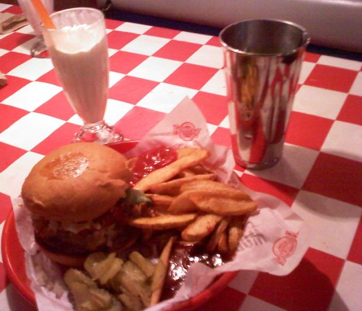 The Fox Tower at Foxwoods:                   This is one tasty burger and a damn good shake!