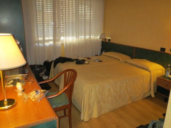Albergo Carlo Magno Hotel:                   My room that I shared with a friend. Separate beds next to each other.