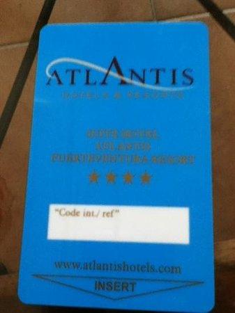 Suite Hotel Atlantis Fuerteventura Resort:                   room card