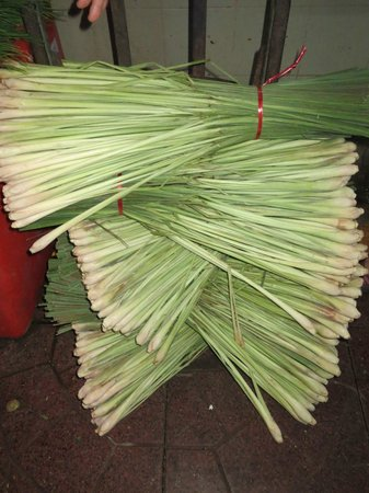 Phuket Thai Cookery School:                   Stackes of lemongrass in market