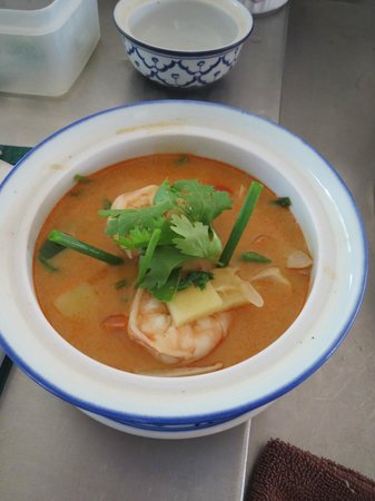 Phuket Thai Cookery School:                   My soup !