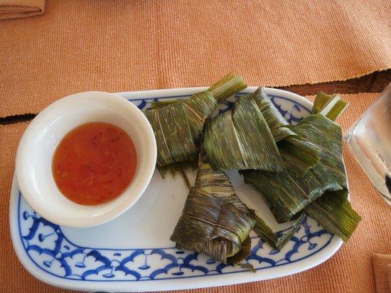 Phuket Thai Cookery School:                   Pandanus leaf chicken