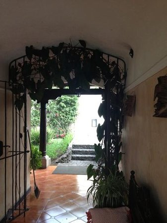 Casa Madeleine:                   Charming entrance to the B&B.