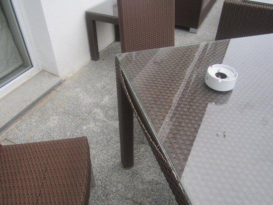 Parador de Vic-Sau:                   tavolo in giardino