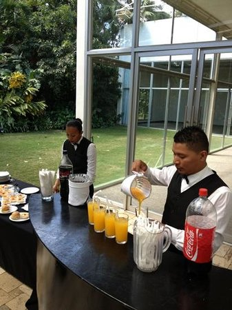 Hotel Contempo:                   Waiters during coffee break.