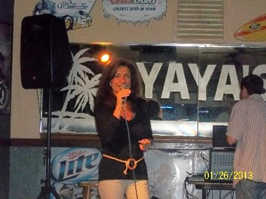 Daytona Beach, FL:                   Martine B singing Karaoke