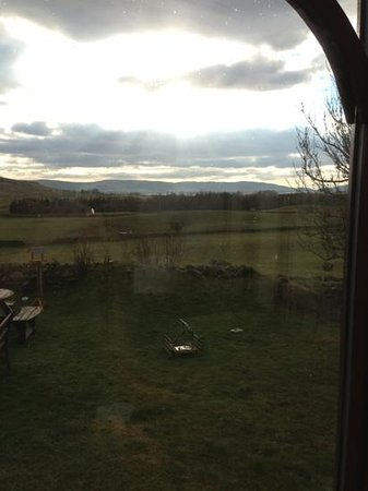 Low Kirkbride Farm:                   view from the conservatory