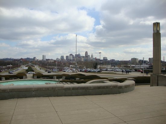 Looking out at the city from union terminal picture of Museums in cincinnati ohio
