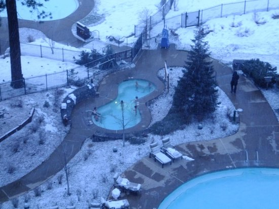 Hyatt Regency Lake Tahoe Resort, Spa and Casino:                   Outdoor pool in the snow