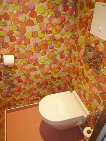 Hotel Atmospheres:                   Funky wallpaper in toilet