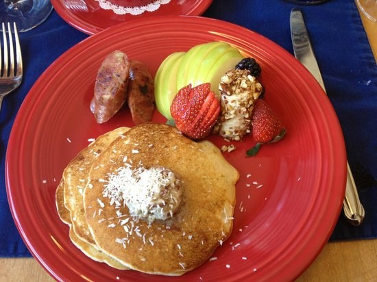 Romantic RiverSong Bed and Breakfast Inn:                   Another delicious breakfast by Blanca.