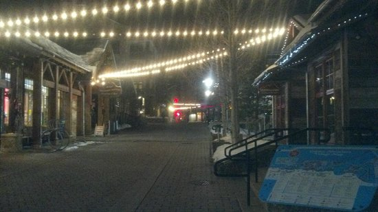 Copper Mountain Ski Area:                   Center Village beautiful at night