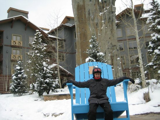 Copper Mountain Ski Area:                   Big Adirondack chairs in random places
