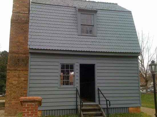 Andrew Johnson National Historic Site:                   replica of A. Johnson house he was born in