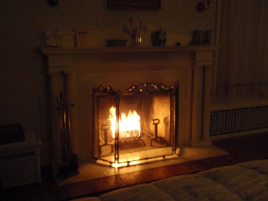Cotton Mansion:                   The fireplace in the Lillian James room