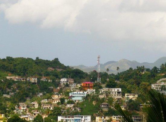 Grand Bahia Principe Cayacoa:                   The town, as seen from outdoor patio