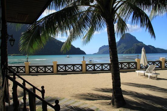 la vue de ma chambre Picture of El Nido Garden Beach Resort El