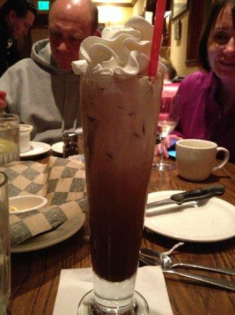 Iced mocha at Mimi's Cafe Disneyland