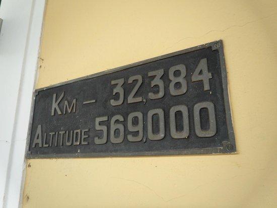 Passeio de Maria Fumaca Campinas - Jaguariuna :                                     placa de sinalização da estação Jaguariuna