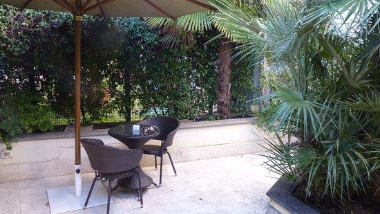 Hotel Villa Duse: jardin privatif de la chambre