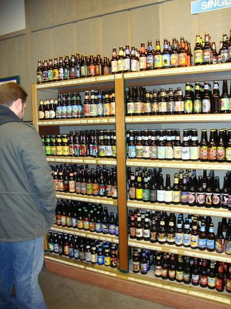 Jungle Jim's International Market:                   Browsing the single bottles of beer