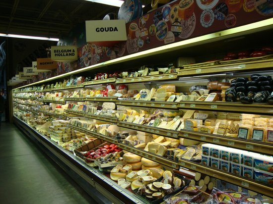 Jungle Jim's International Market:                   Just one side of the cheese case