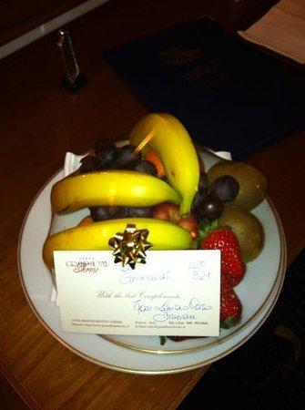 Grand Hotel Terme:                   cestino frutta di ...benvenuto ...!!!