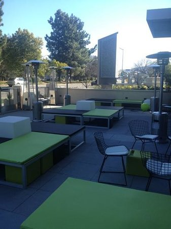 Aloft Cupertino:                   Heated Area
