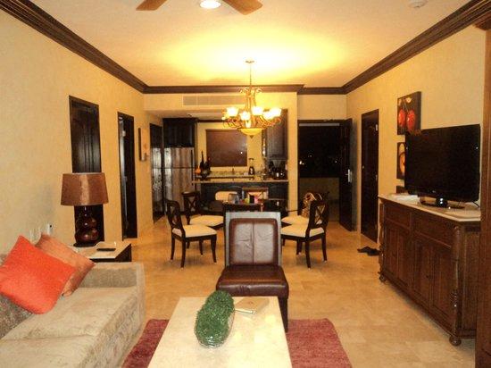 Villa del Palmar Cancun Beach Resort & Spa:                                     1 Bedroom Suite/Living/Kitchen