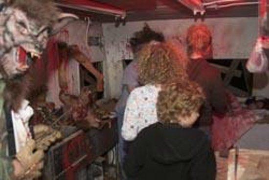 Werewolf at a Danger Run haunted house