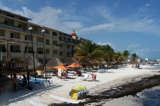 All Ritmo Cancun Resort & Waterpark:                   view from the pool deck