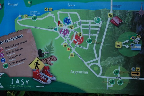Jasy Hotel:                   Town Map near the Restaurant & Hotel Check In Area