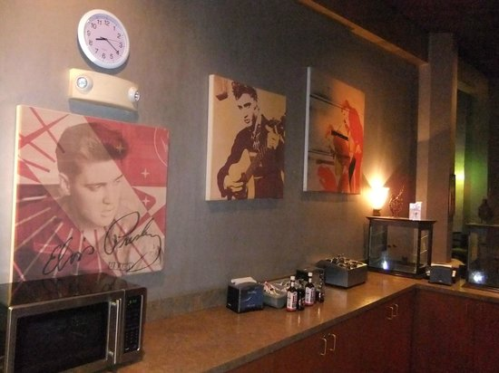 Elvis Presley's Heartbreak Hotel:                   In restaurant