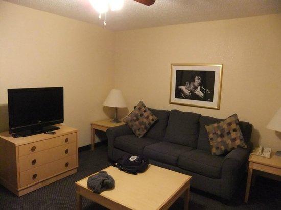 Elvis Presley's Heartbreak Hotel:                   SItting Area/Family Room
