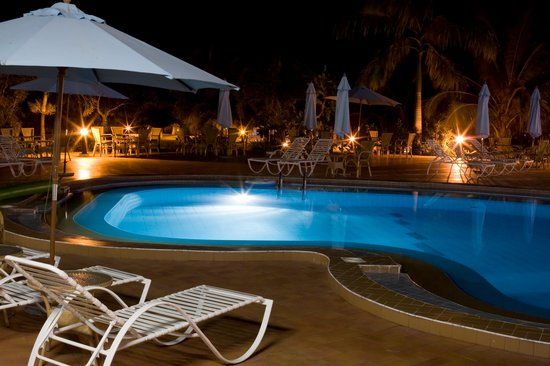 Busua Waves Resort:                   ELEGANT POOL SIDE AT NIGHT