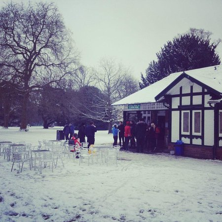 Central Cross Cafe: Central Cross in the snow