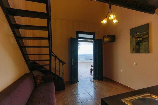 Little Lindos Sea View Studios: Studio spli-level