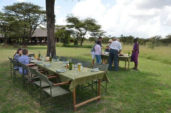 Naboisho Camp, Asilia Africa:                                     Lunch