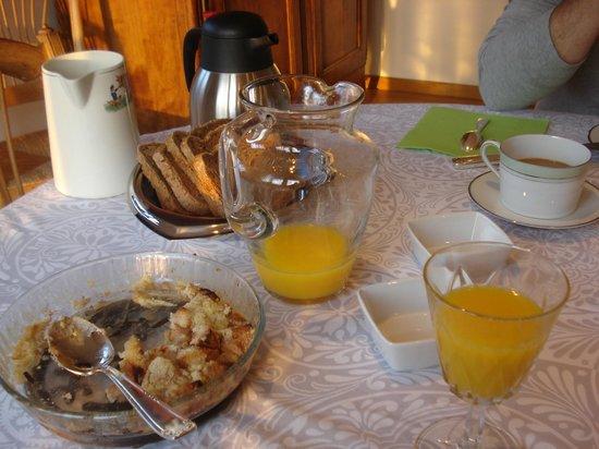 A la Maison du Heron :                   Delicious homemade breakfasts