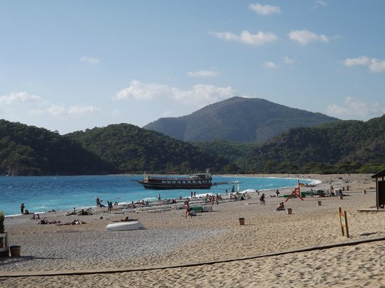 Oludeniz Resort by Z'Hotels:                   A section of the beach looking towards the Blue Lagoon
